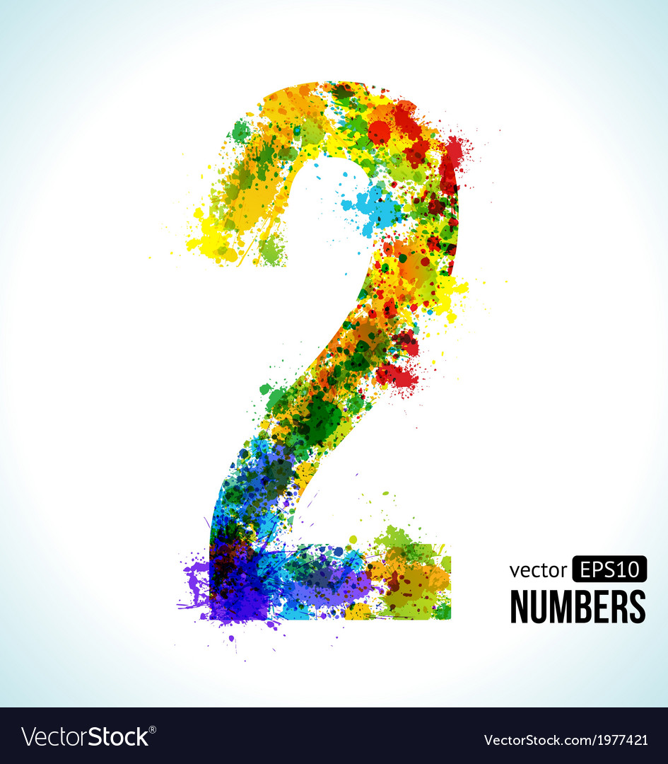 Number 2 gradient number vector | Price: 1 Credit (USD $1)
