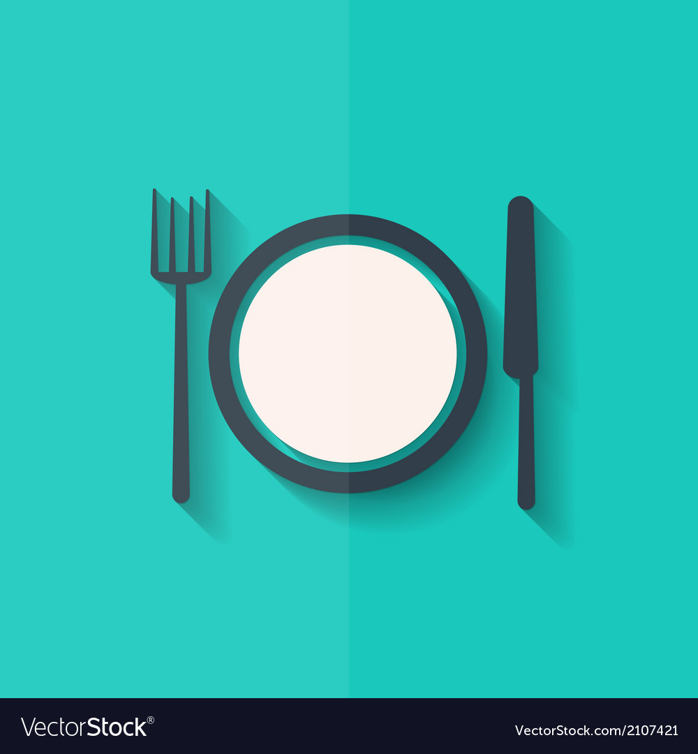 Plate web icon flat design vector | Price: 1 Credit (USD $1)