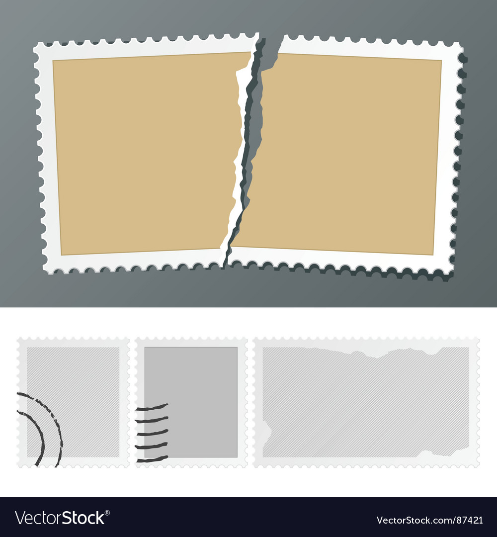 Postage stamps vector | Price: 1 Credit (USD $1)
