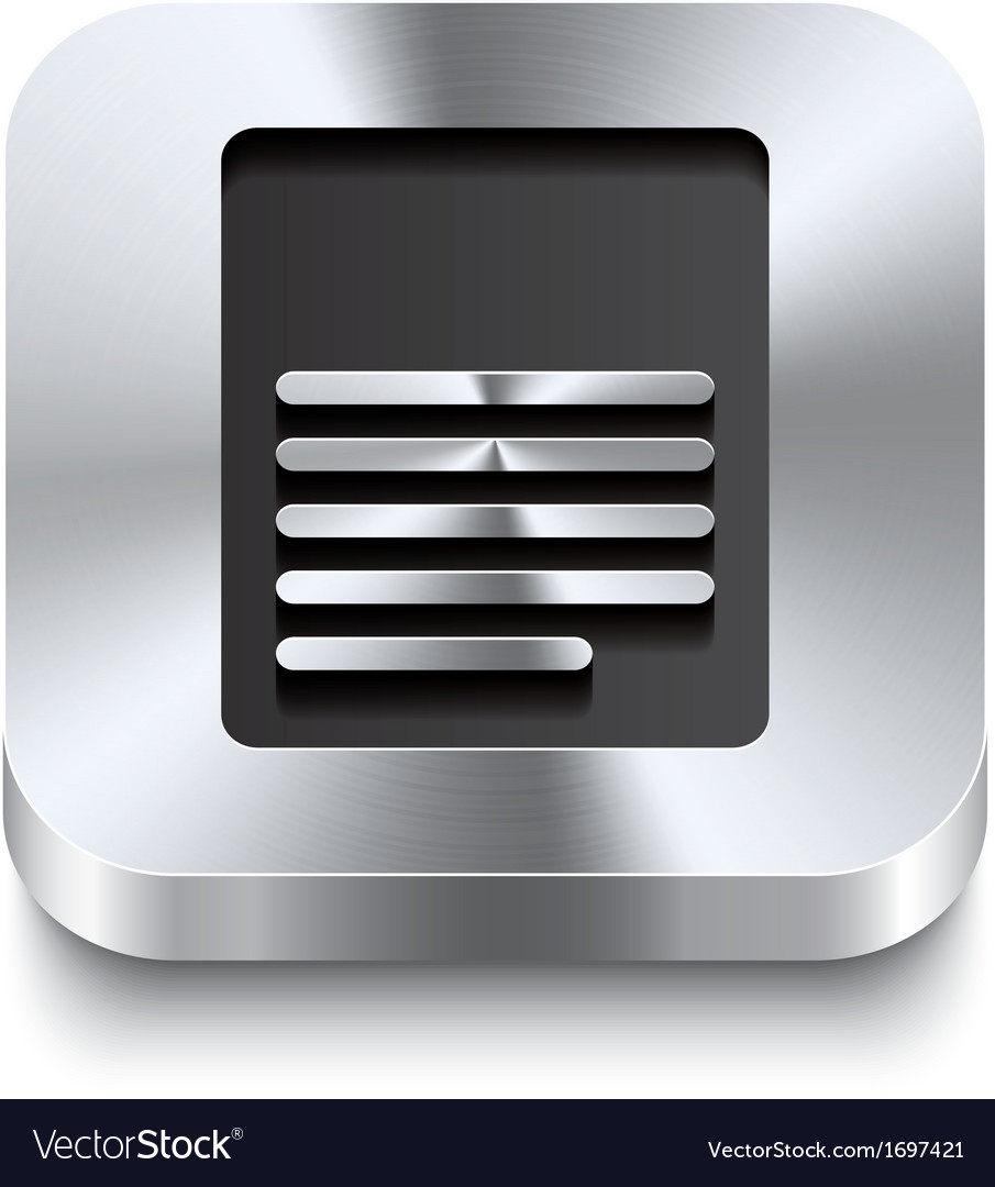 Square metal button perspektive - page icon vector | Price: 1 Credit (USD $1)