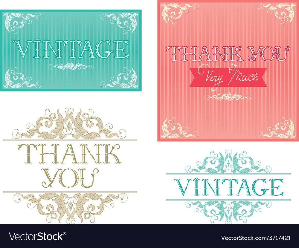 Thank you typographic design vector | Price: 1 Credit (USD $1)