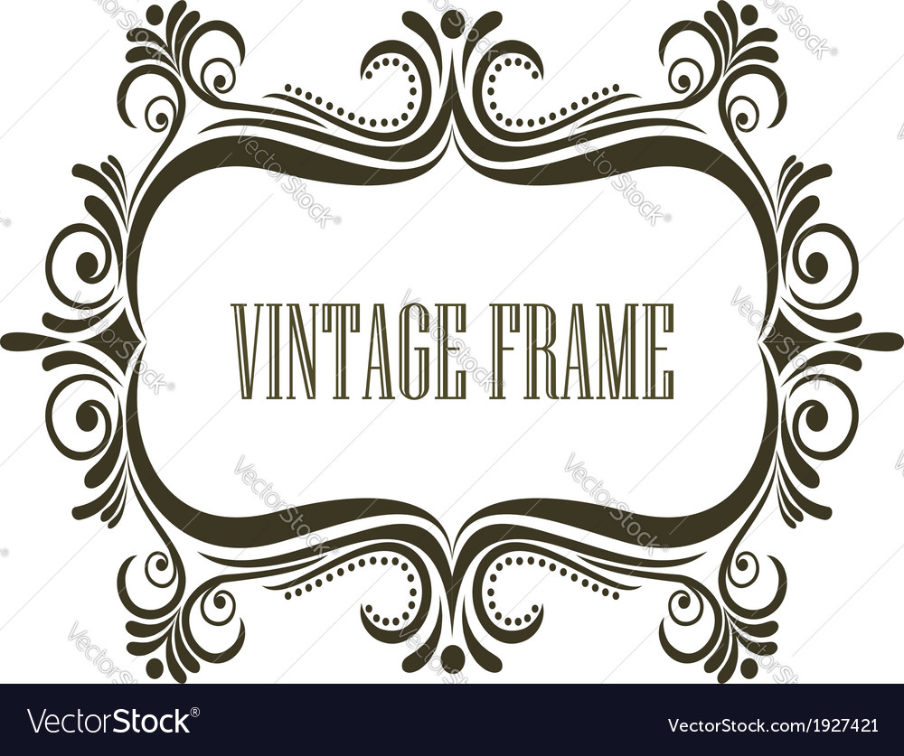 Vintage frame with embellishments vector | Price: 1 Credit (USD $1)
