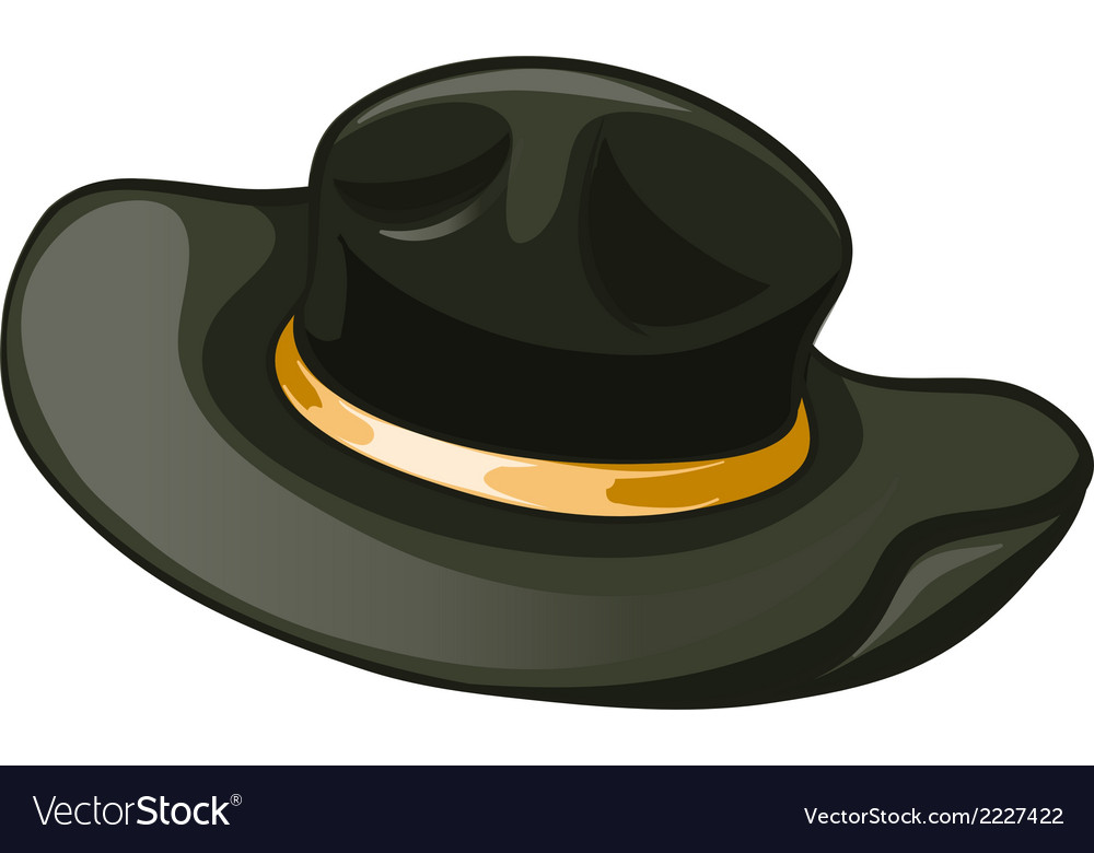 A black hat with a yellow belt vector | Price: 1 Credit (USD $1)