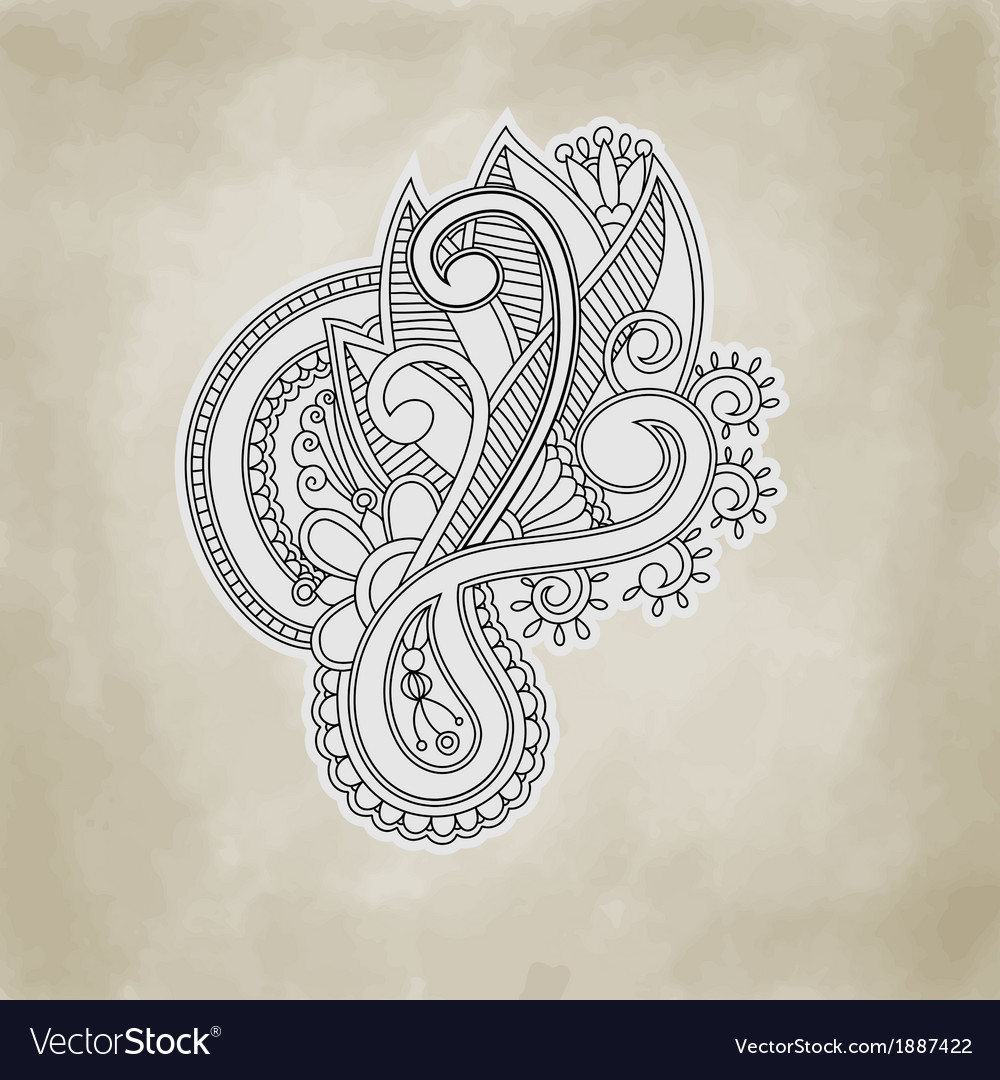 Abstract floral and ornamental item background vector   Price: 1 Credit (USD $1)