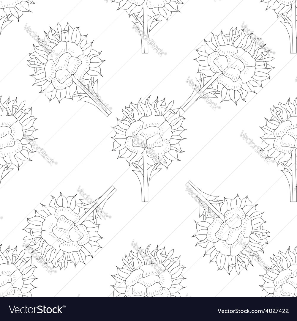 Abstract seamless pattern with flower vector