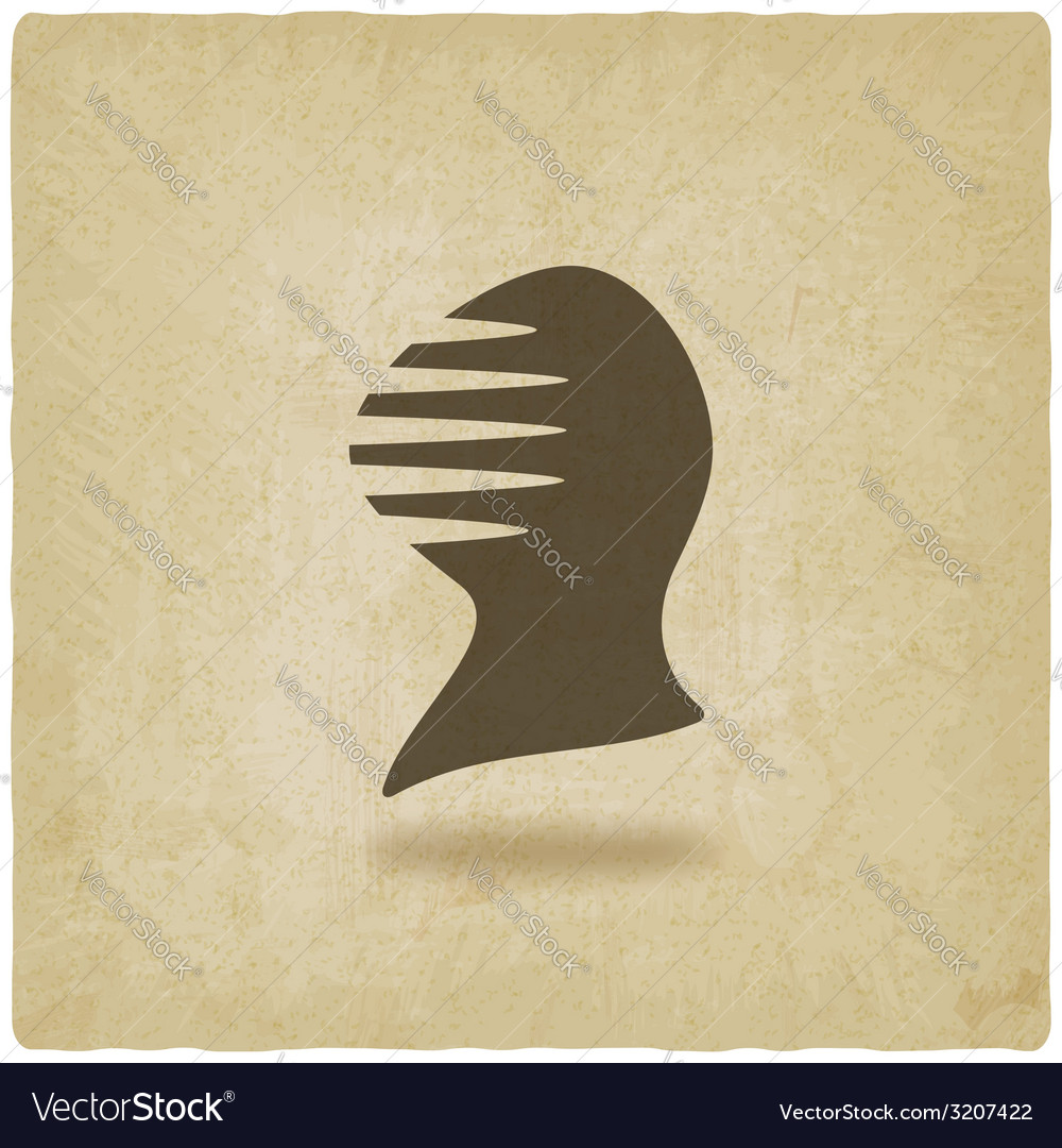Antique helmet old background vector | Price: 1 Credit (USD $1)