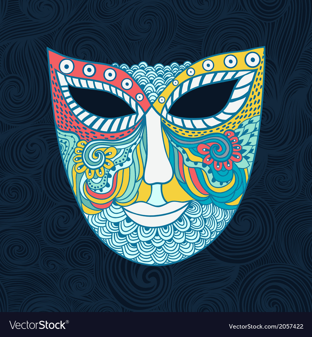 Carnival mask mask stylization vector | Price: 1 Credit (USD $1)