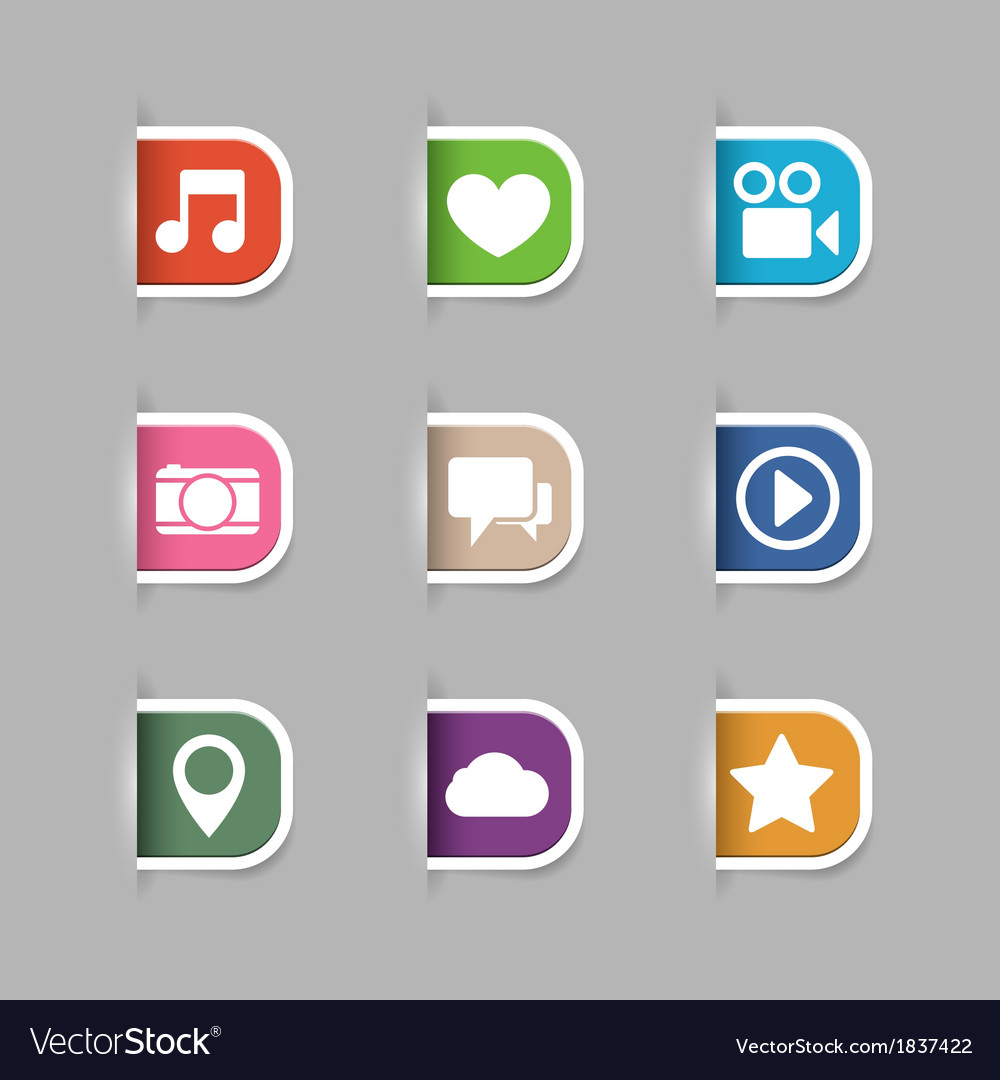 Collection of social media pictograms vector | Price: 1 Credit (USD $1)