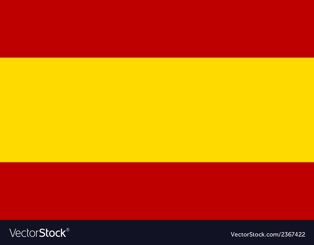 Flag of spain vector | Price: 1 Credit (USD $1)