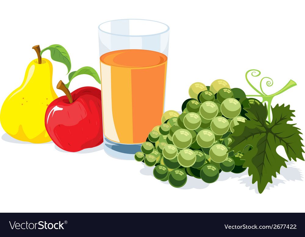 Fruit and juice vector | Price: 1 Credit (USD $1)