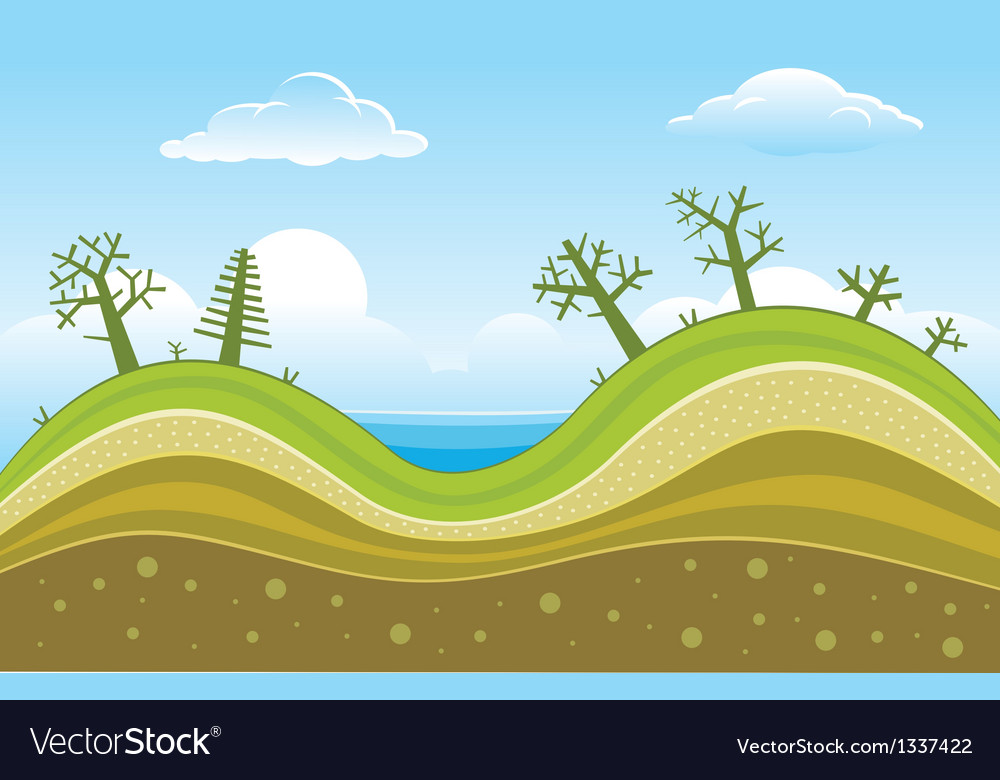 Green hills vector | Price: 1 Credit (USD $1)