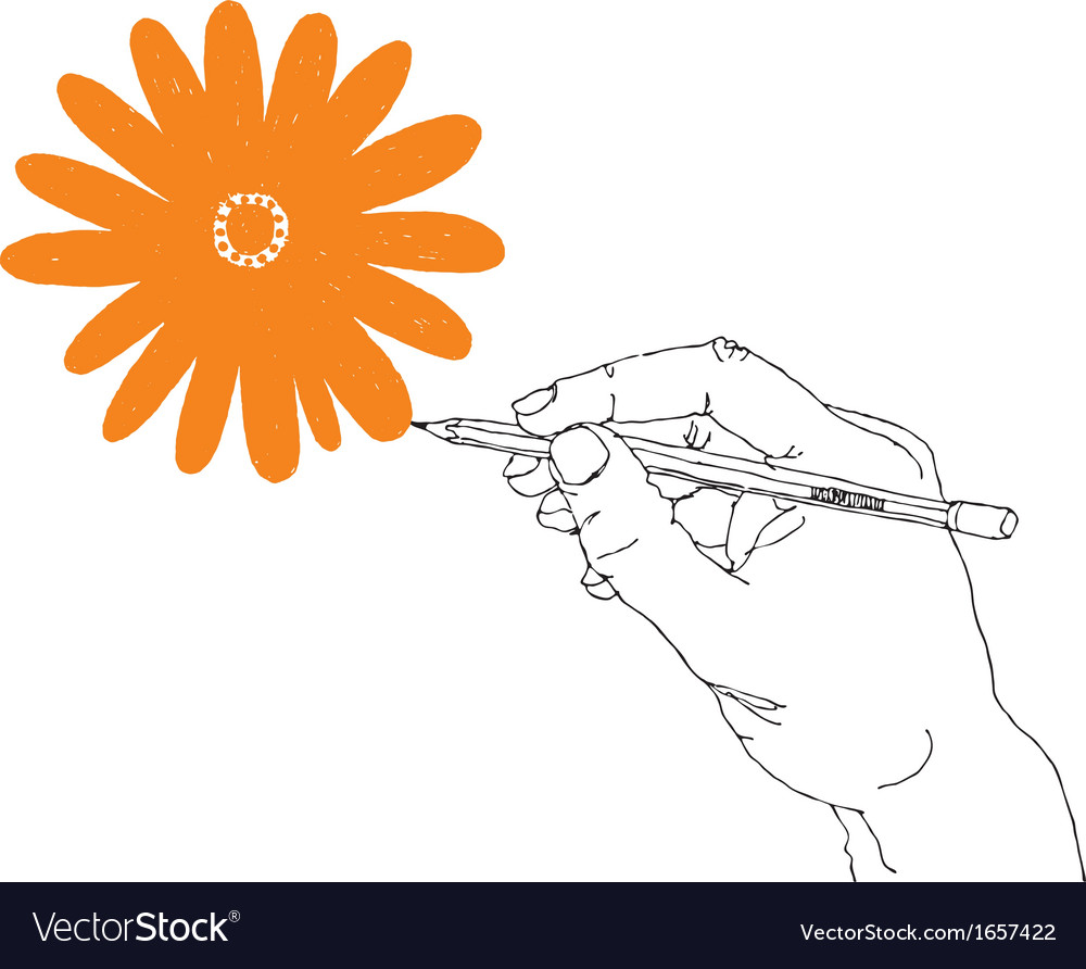Hand drawing flower vector | Price: 1 Credit (USD $1)