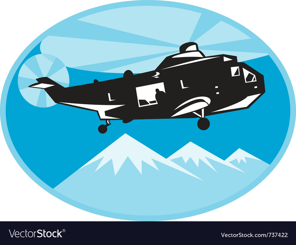 Helicopter search and rescue vector | Price: 1 Credit (USD $1)