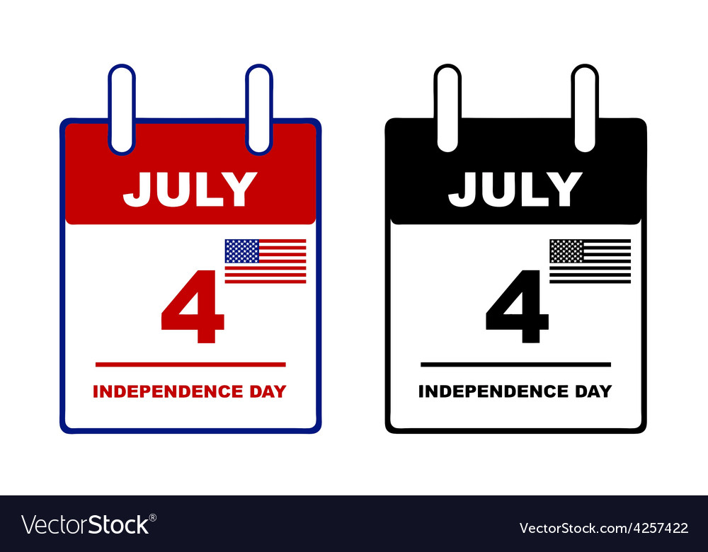 Independence day calendar vector | Price: 1 Credit (USD $1)