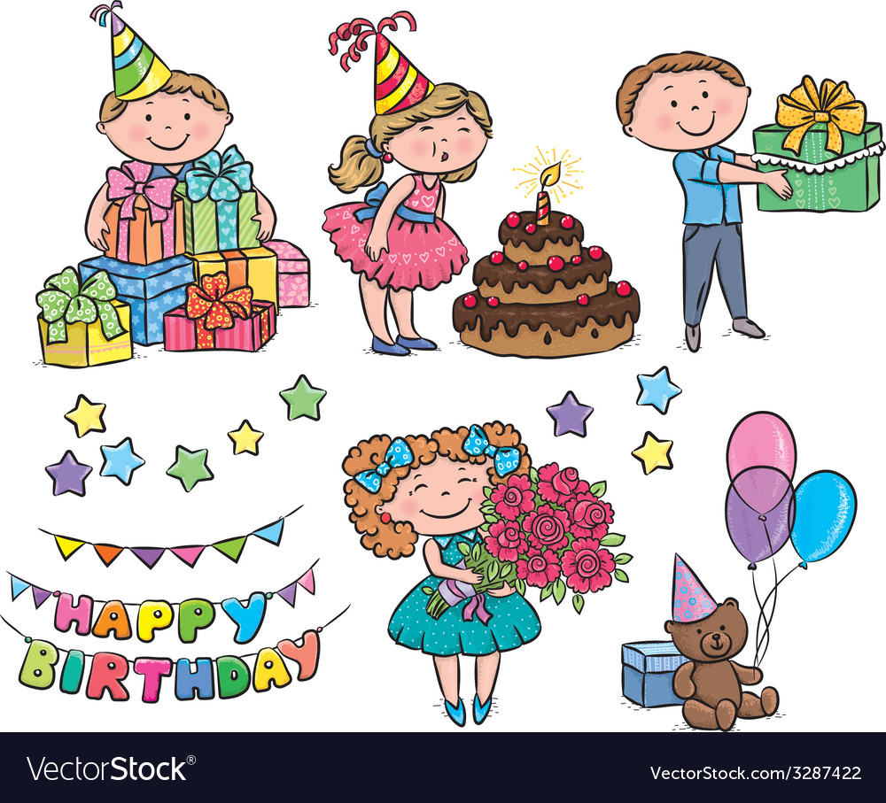 Kids birthday vector | Price: 1 Credit (USD $1)