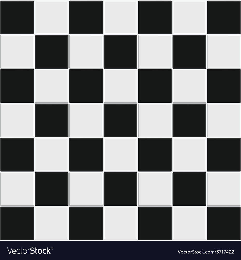 Seamless black and white tiles vector | Price: 1 Credit (USD $1)