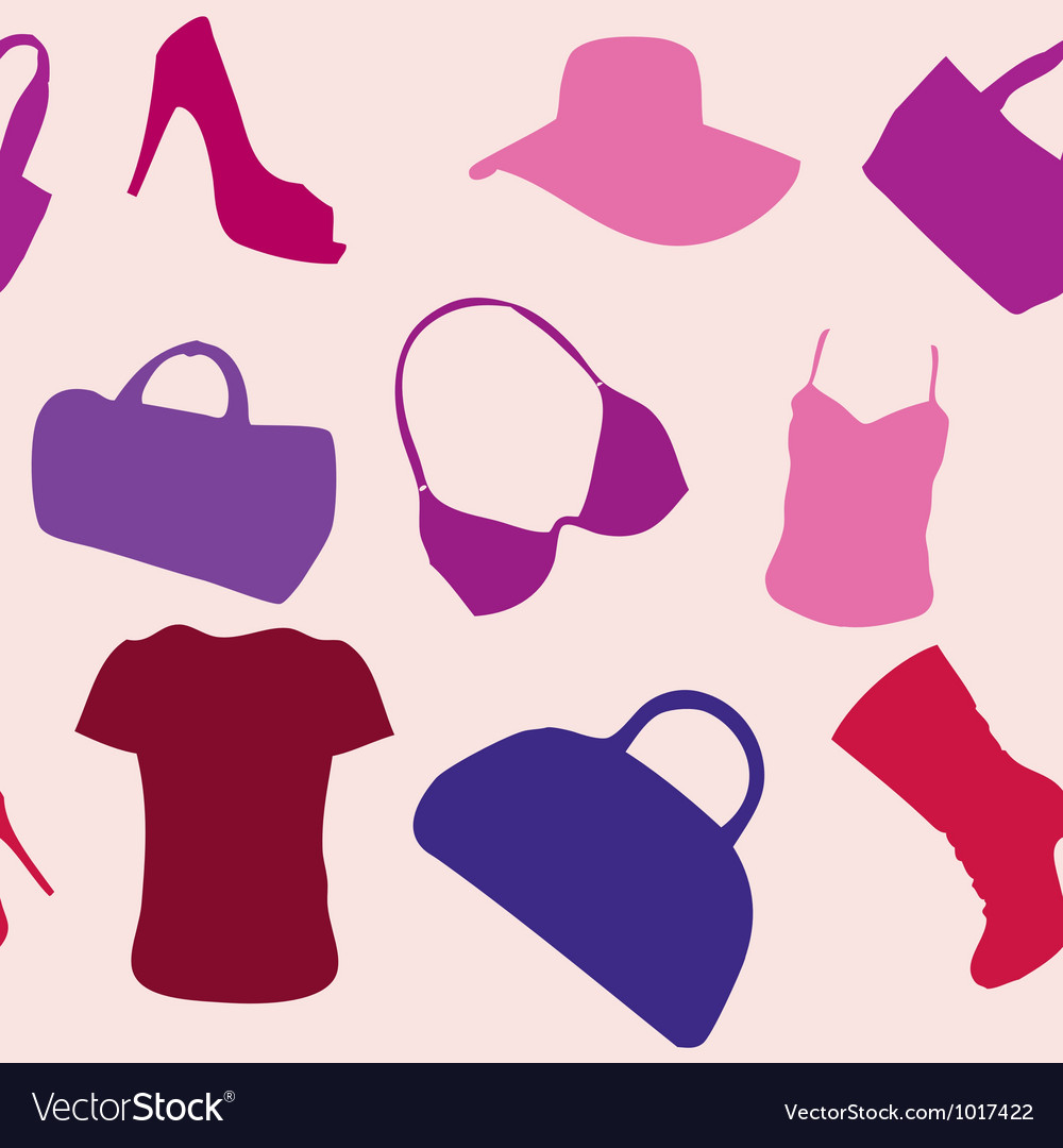 Womens accessories seamless pattern vector | Price: 1 Credit (USD $1)