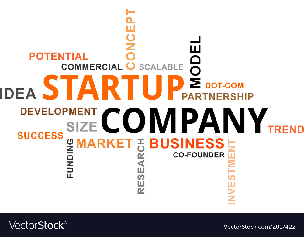 Word cloud startup company vector   Price: 1 Credit (USD $1)