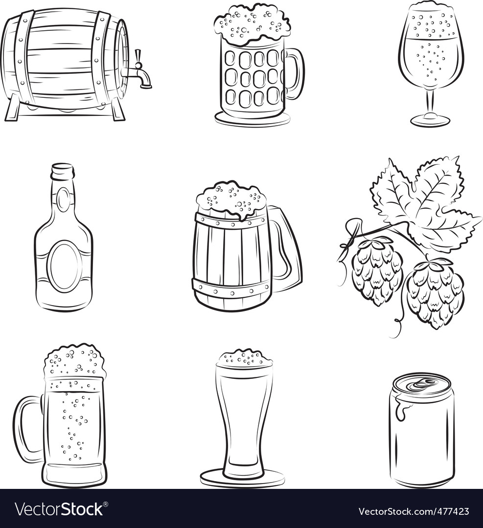 Beer set vector | Price: 3 Credit (USD $3)