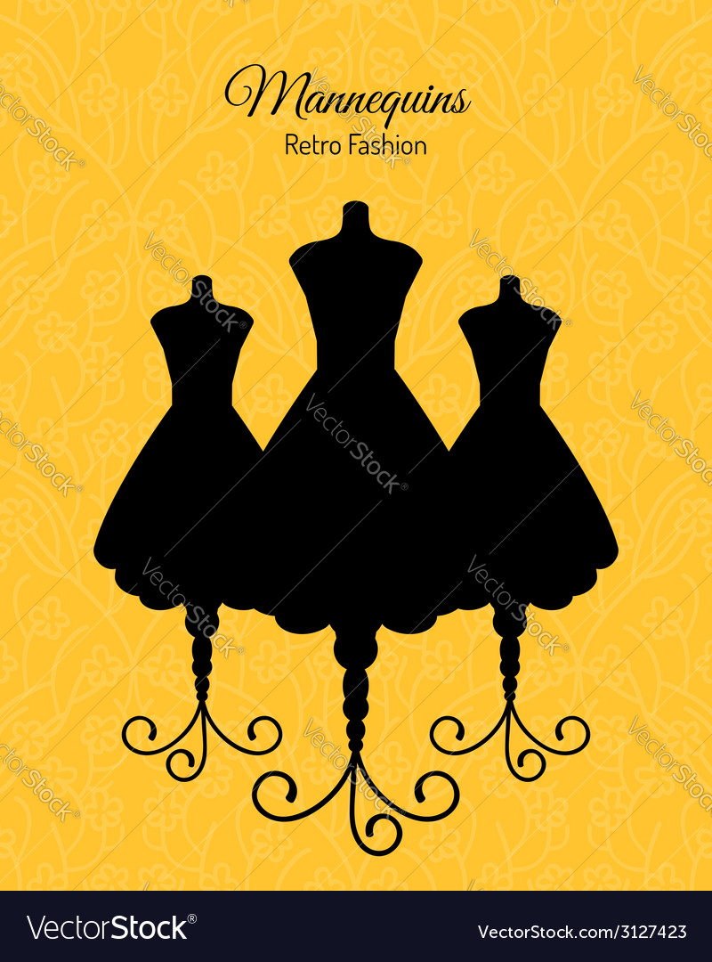 Black silhouettes of mannequins vector | Price: 1 Credit (USD $1)