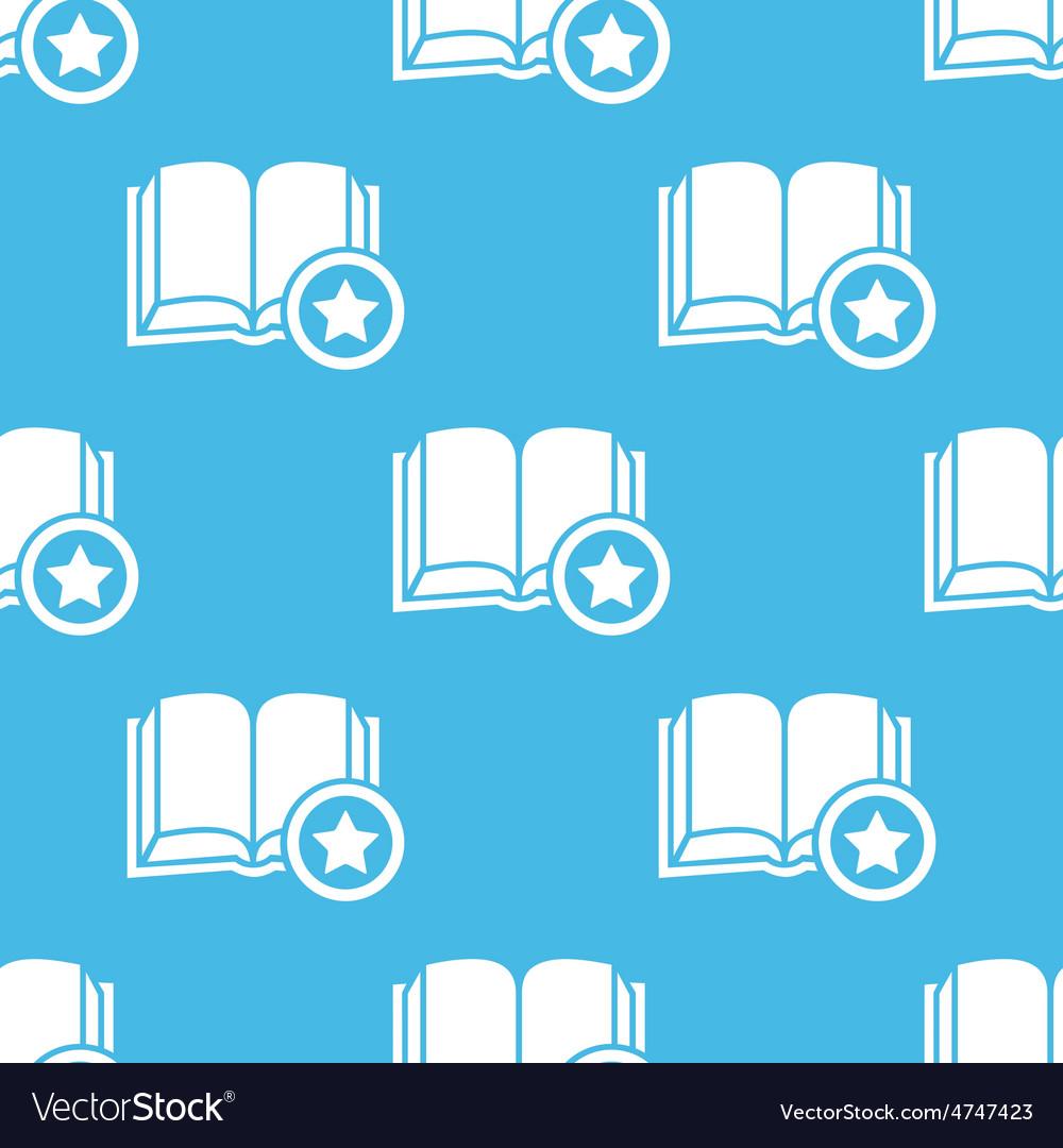Blue favorite book pattern vector | Price: 1 Credit (USD $1)