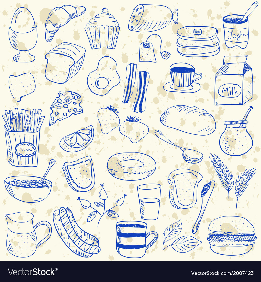 Breakfast doodles vector | Price: 1 Credit (USD $1)
