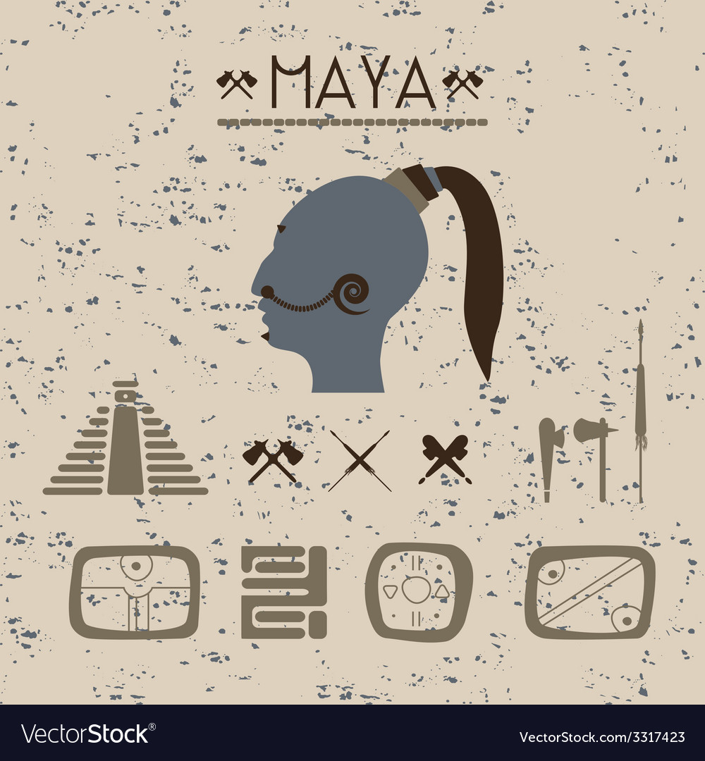Design elements mystical signs and symbols maya vector | Price: 1 Credit (USD $1)