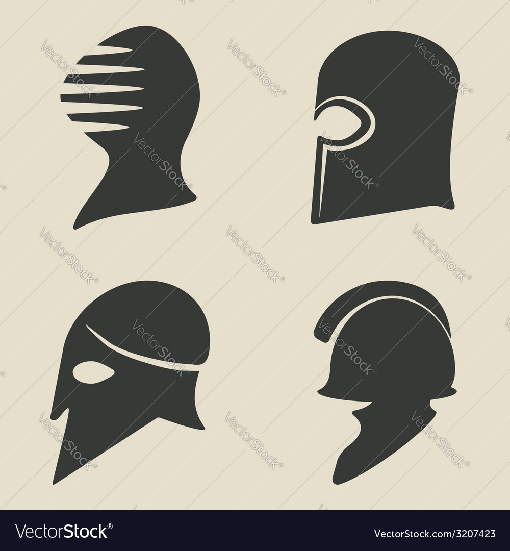 Helmet icon set vector | Price: 1 Credit (USD $1)