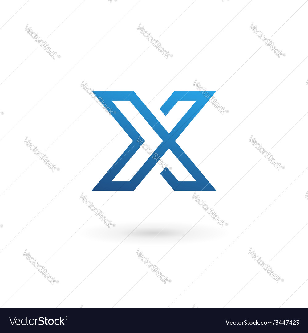 Letter x logo icon design template elements vector | Price: 1 Credit (USD $1)