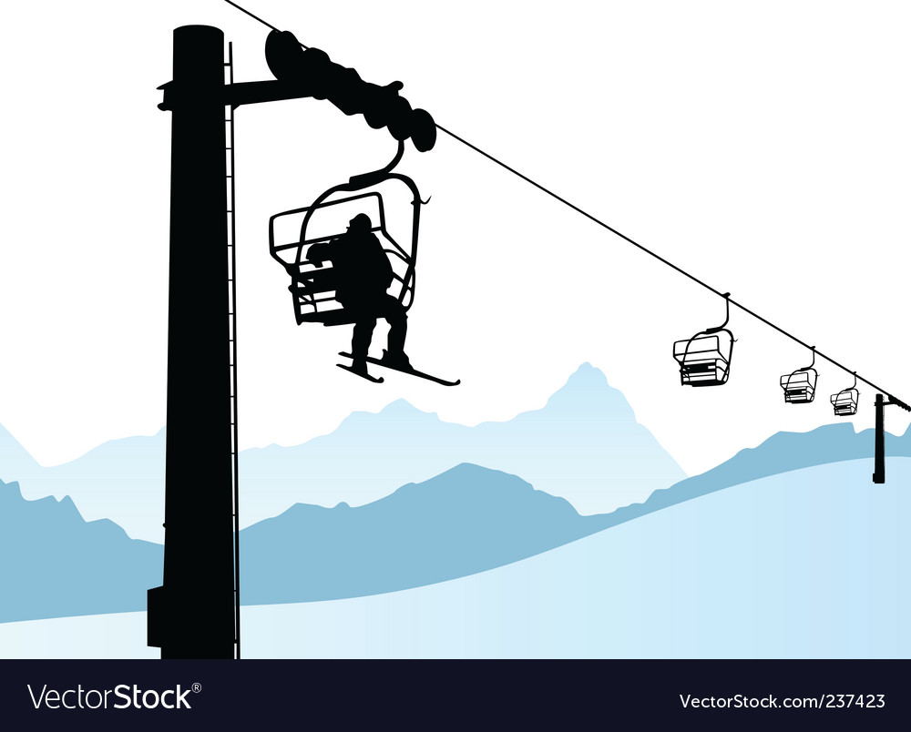 Ski lift vector | Price: 1 Credit (USD $1)
