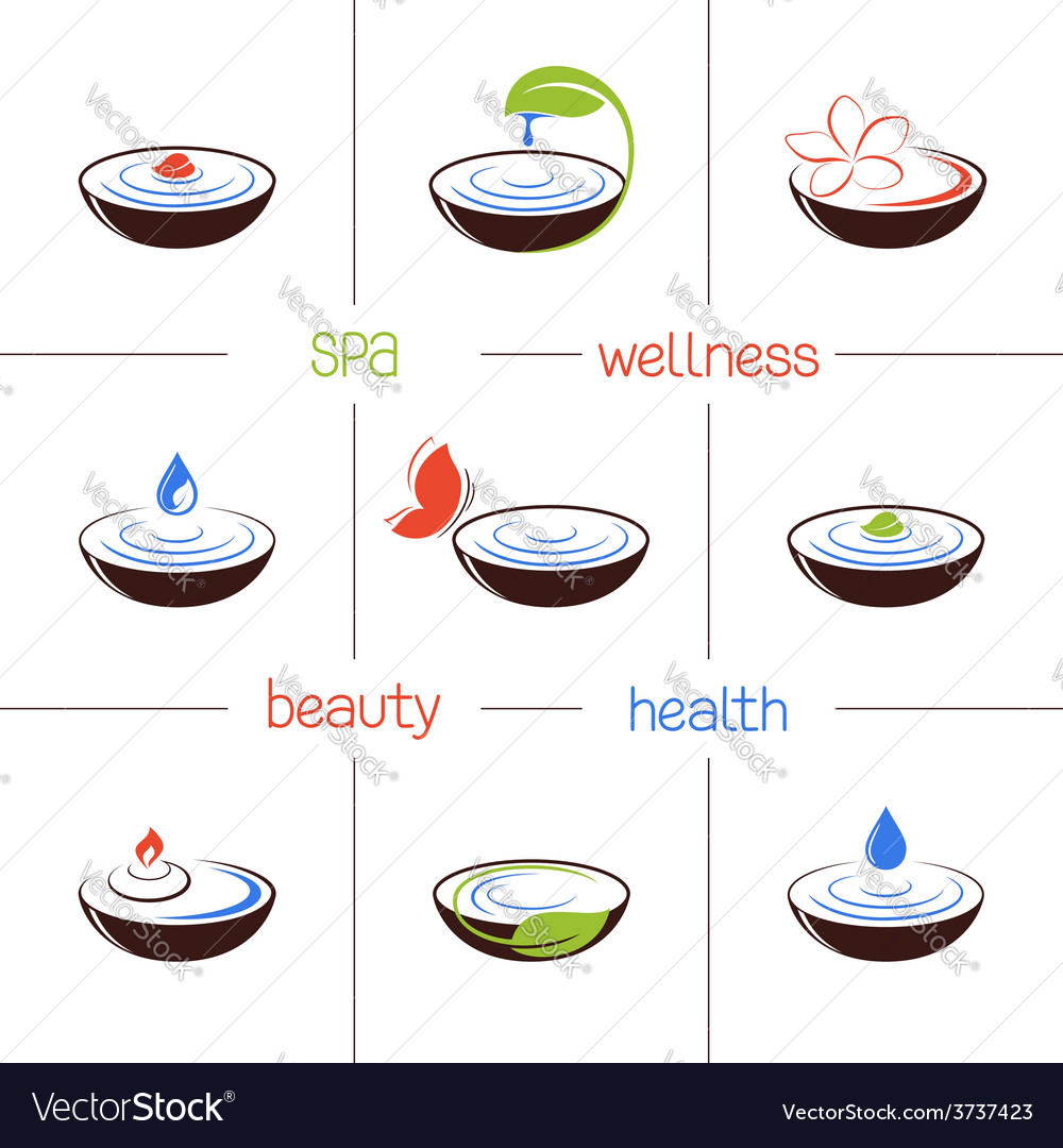 Spa icons set vector   Price: 1 Credit (USD $1)