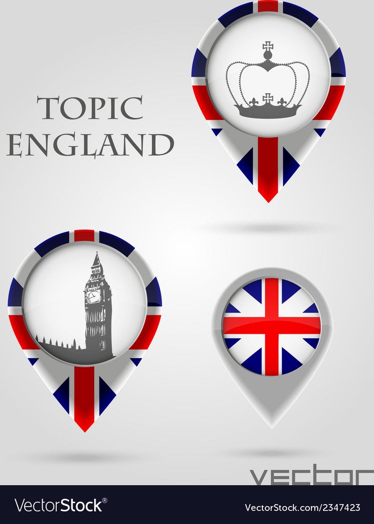 Topic england map marker vector | Price: 1 Credit (USD $1)