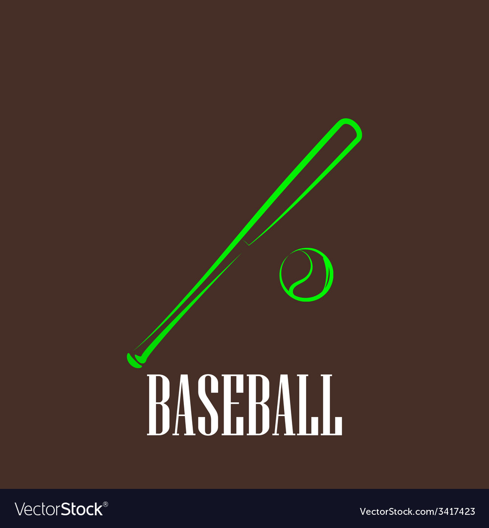 Vintage with a bat and a ball baseball symbol vector | Price: 1 Credit (USD $1)