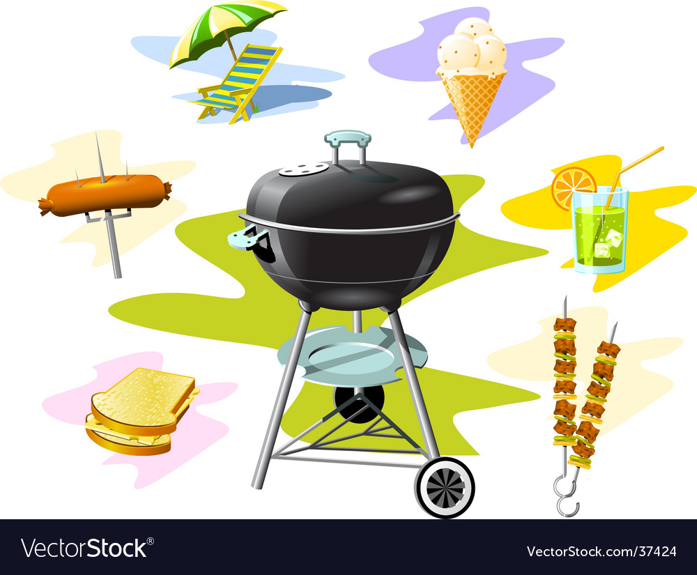 Barbecue grill vector | Price: 3 Credit (USD $3)