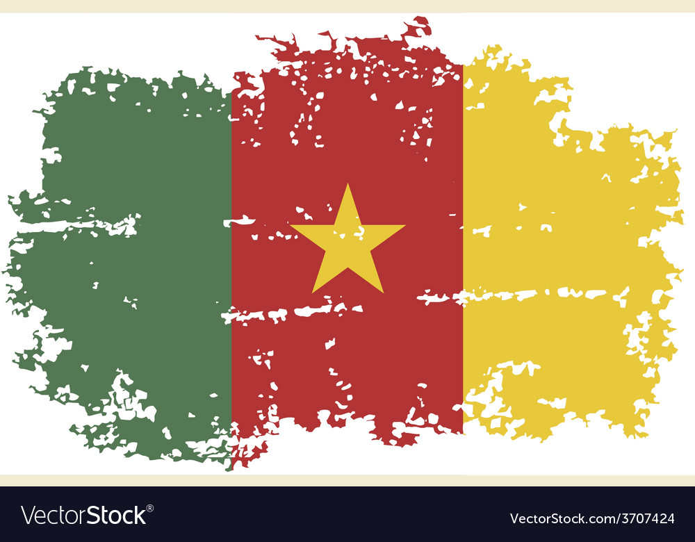 Cameroon grunge flag vector   Price: 1 Credit (USD $1)