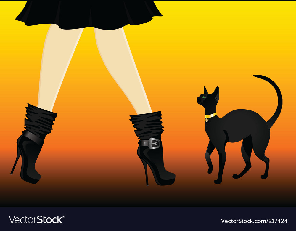 Cat and boots vector | Price: 3 Credit (USD $3)
