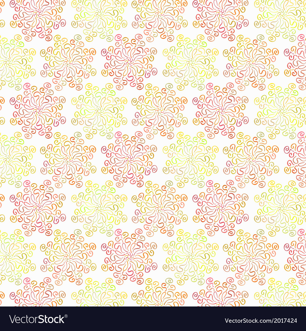 Colorful circular floral pattern on white vector | Price: 1 Credit (USD $1)