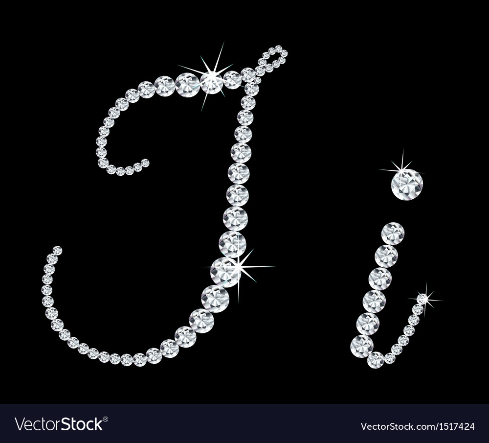Diamond alphabetic letters of i vector | Price: 1 Credit (USD $1)