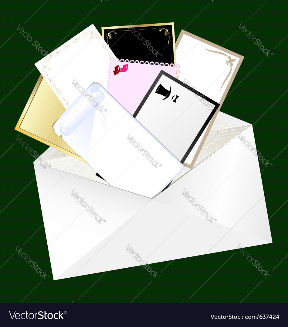 Envelope and blank cards vector | Price: 1 Credit (USD $1)