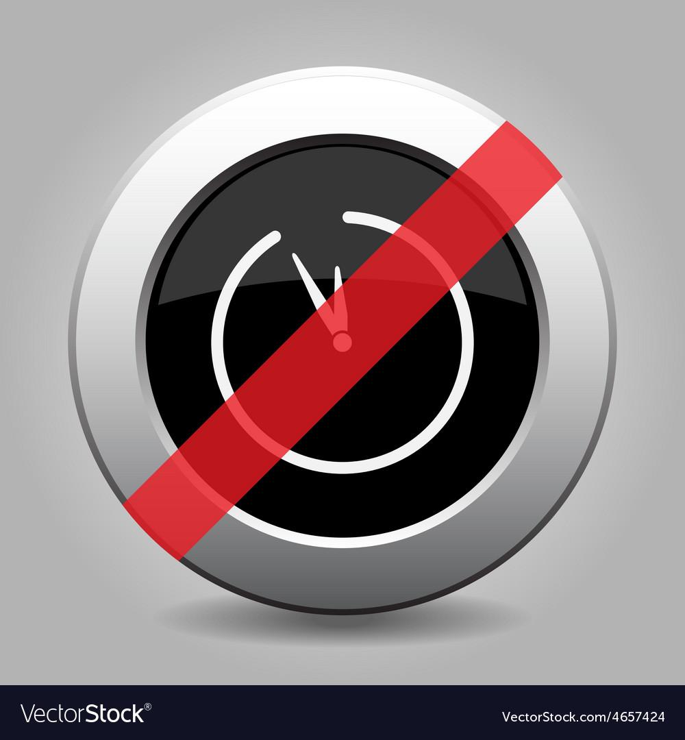 Gray chrome button - no clock vector | Price: 1 Credit (USD $1)