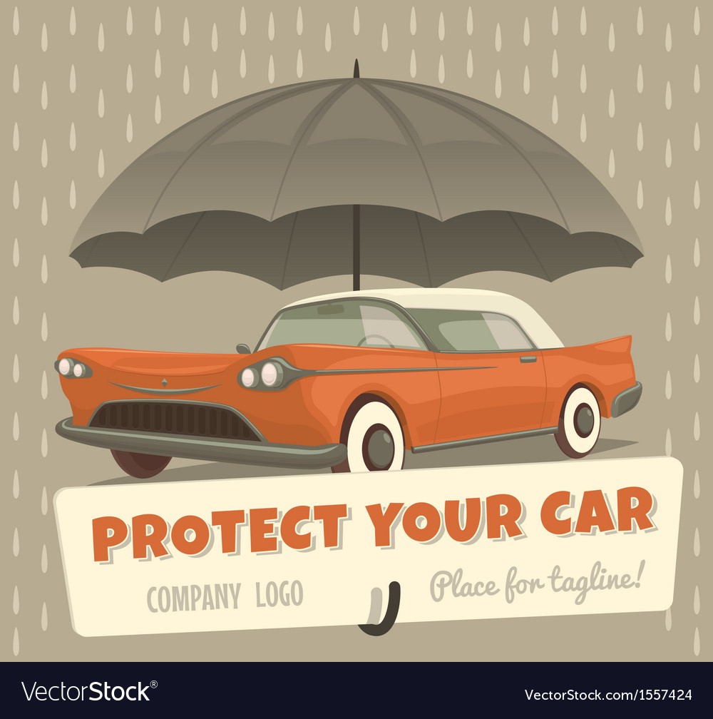 Protect your car vector | Price: 1 Credit (USD $1)
