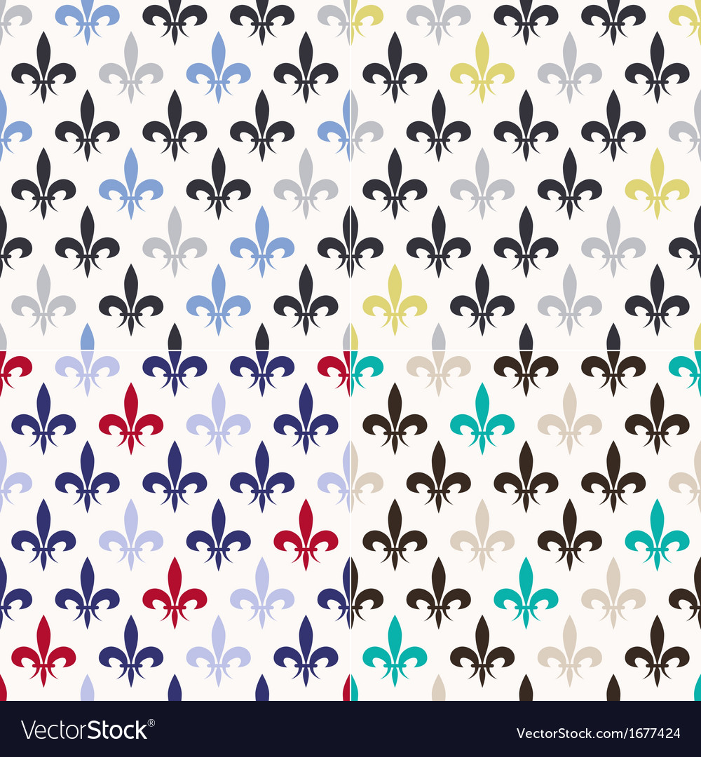 Seamless fleur de lis pattern vector | Price: 1 Credit (USD $1)