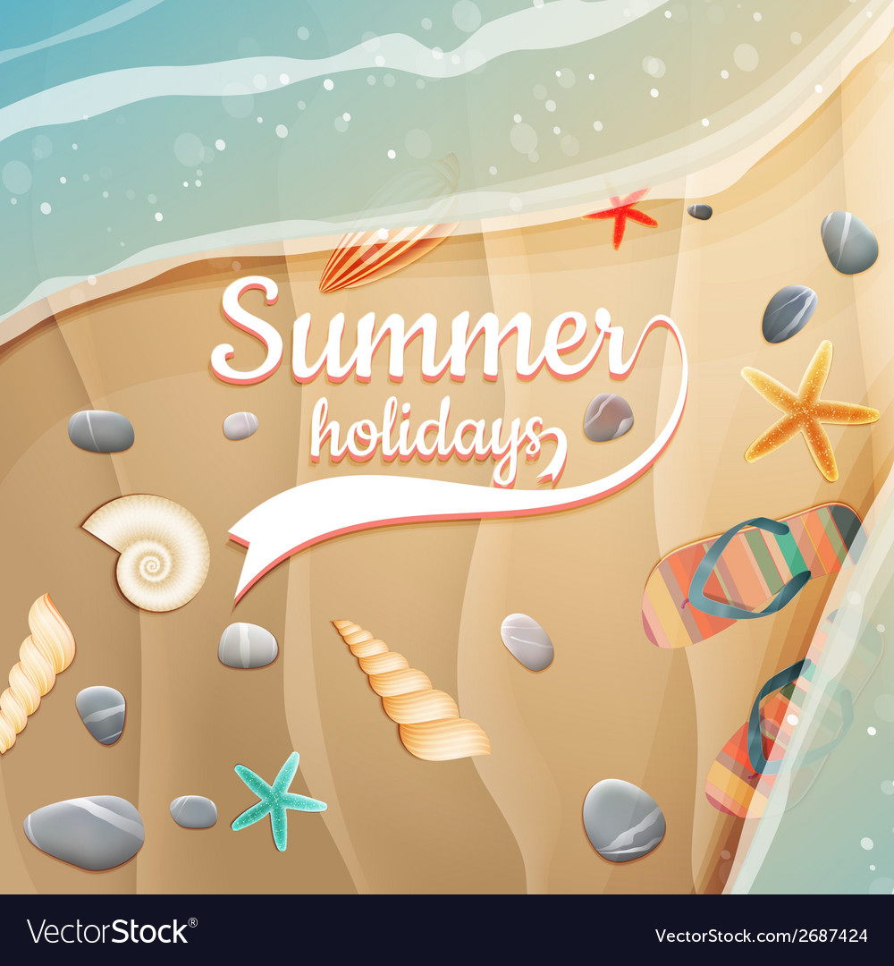 Summer holidays template plus eps10 file vector | Price: 1 Credit (USD $1)
