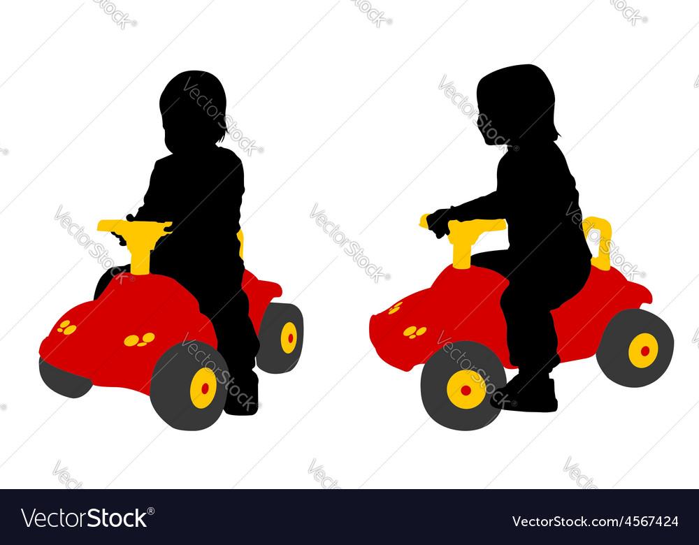 Toddler car vector | Price: 1 Credit (USD $1)
