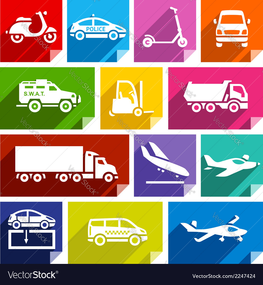 Transport flat icon bright color-05 vector | Price: 1 Credit (USD $1)