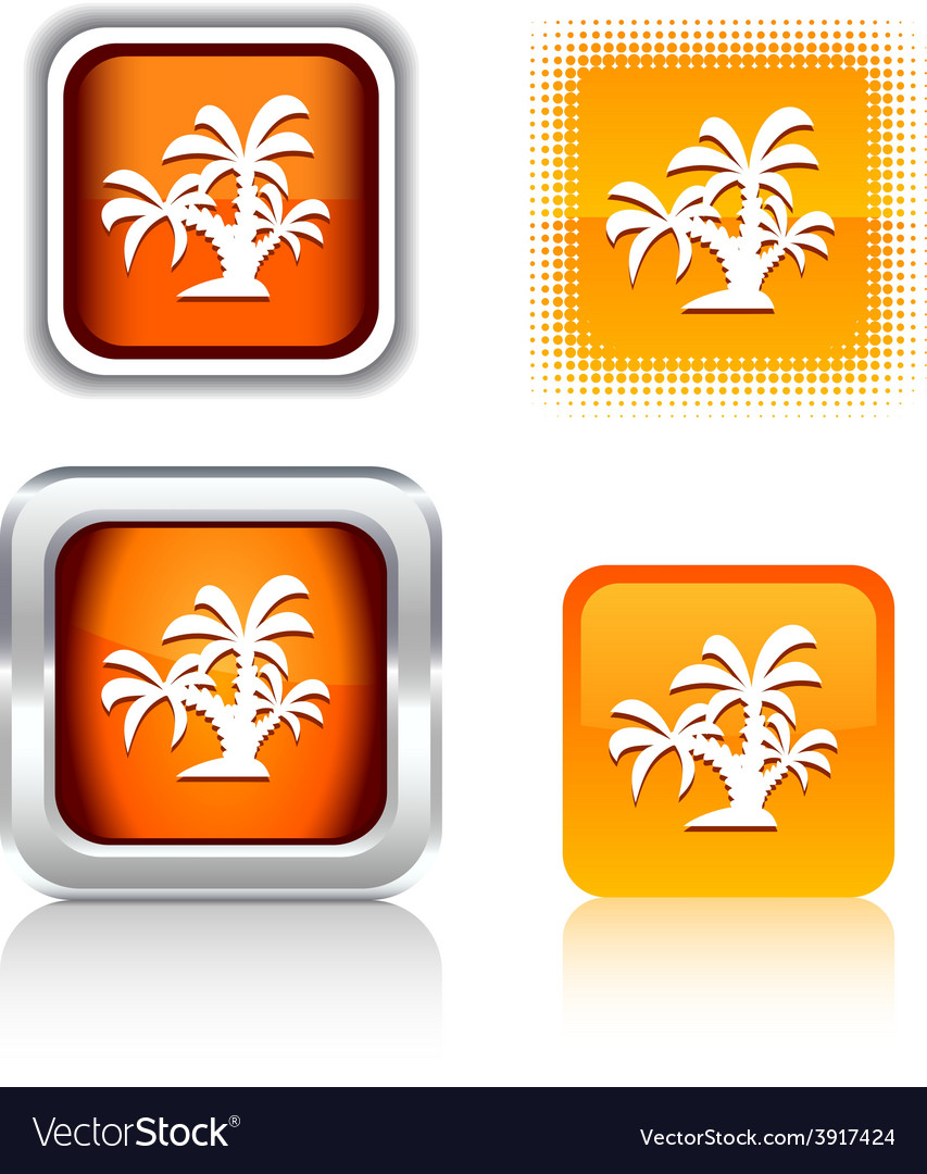 Tropical icons vector | Price: 1 Credit (USD $1)