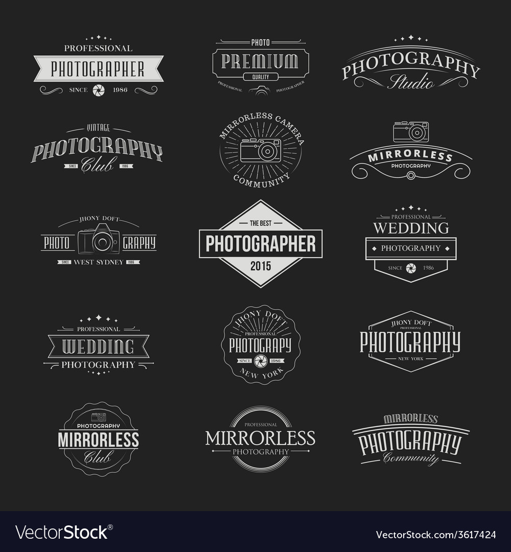 Vintage badges photography vector | Price: 1 Credit (USD $1)