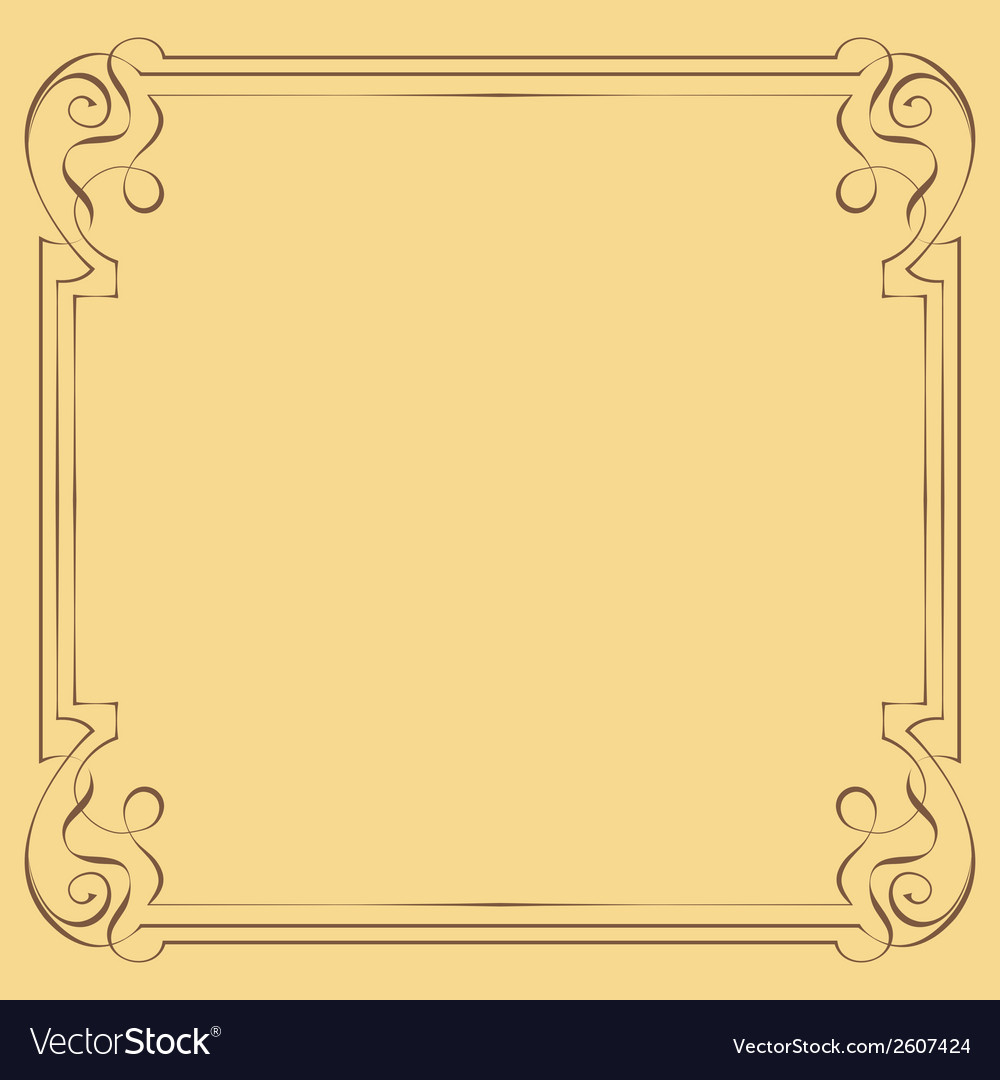 Vintage beautiful elegant frame element for design vector | Price: 1 Credit (USD $1)