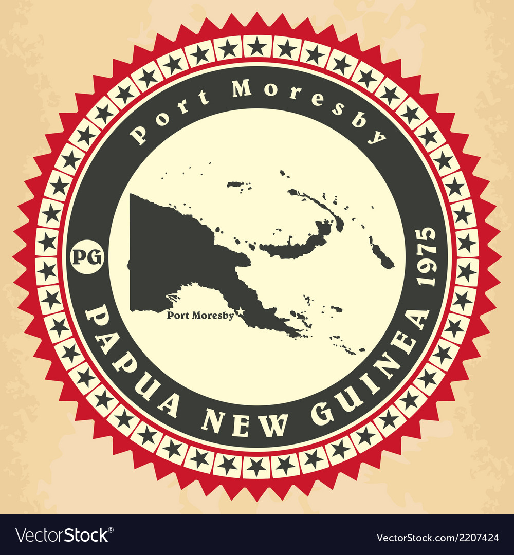 Vintage label-sticker cards of papua new guinea vector   Price: 1 Credit (USD $1)
