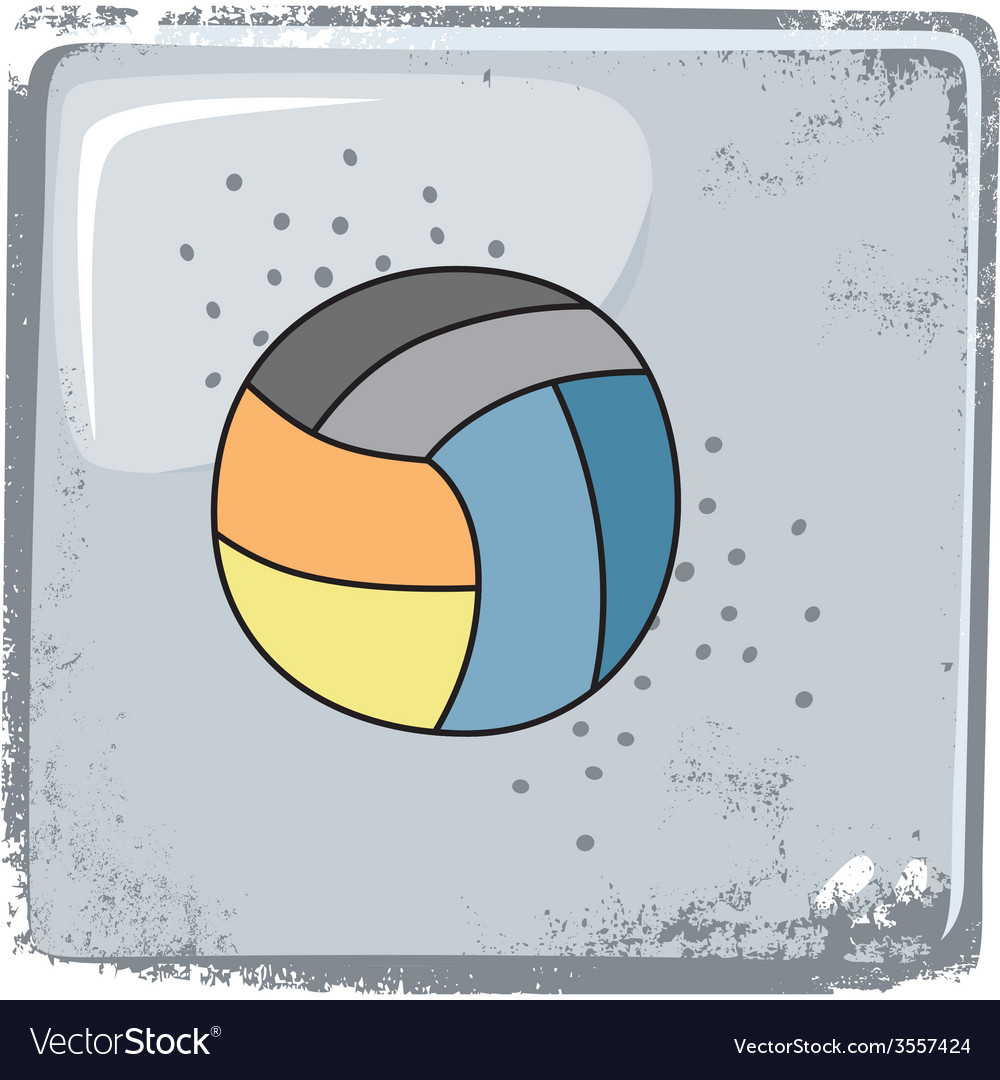 Volleyball sports theme vector | Price: 1 Credit (USD $1)